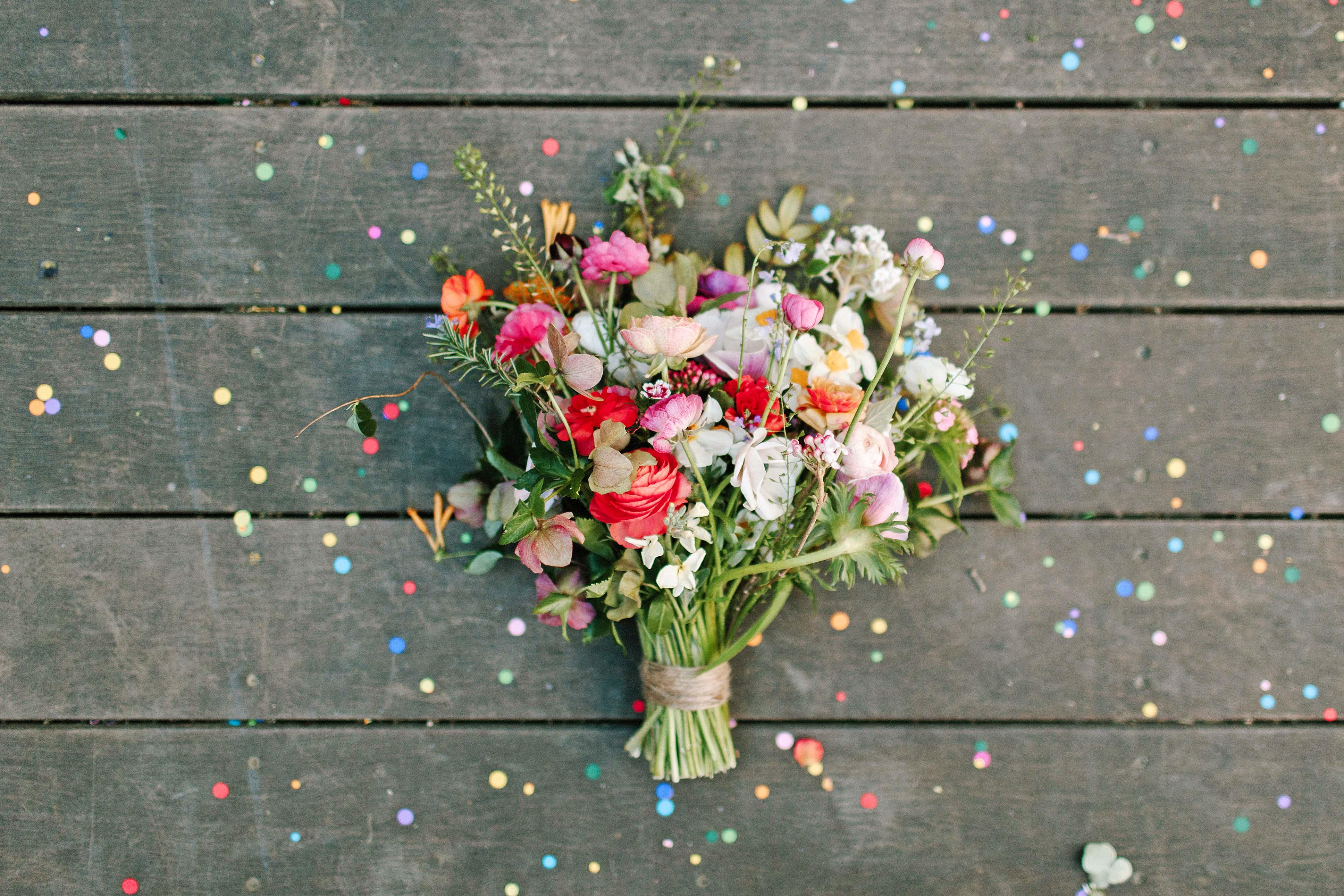 confetti bouquet someplace wild
