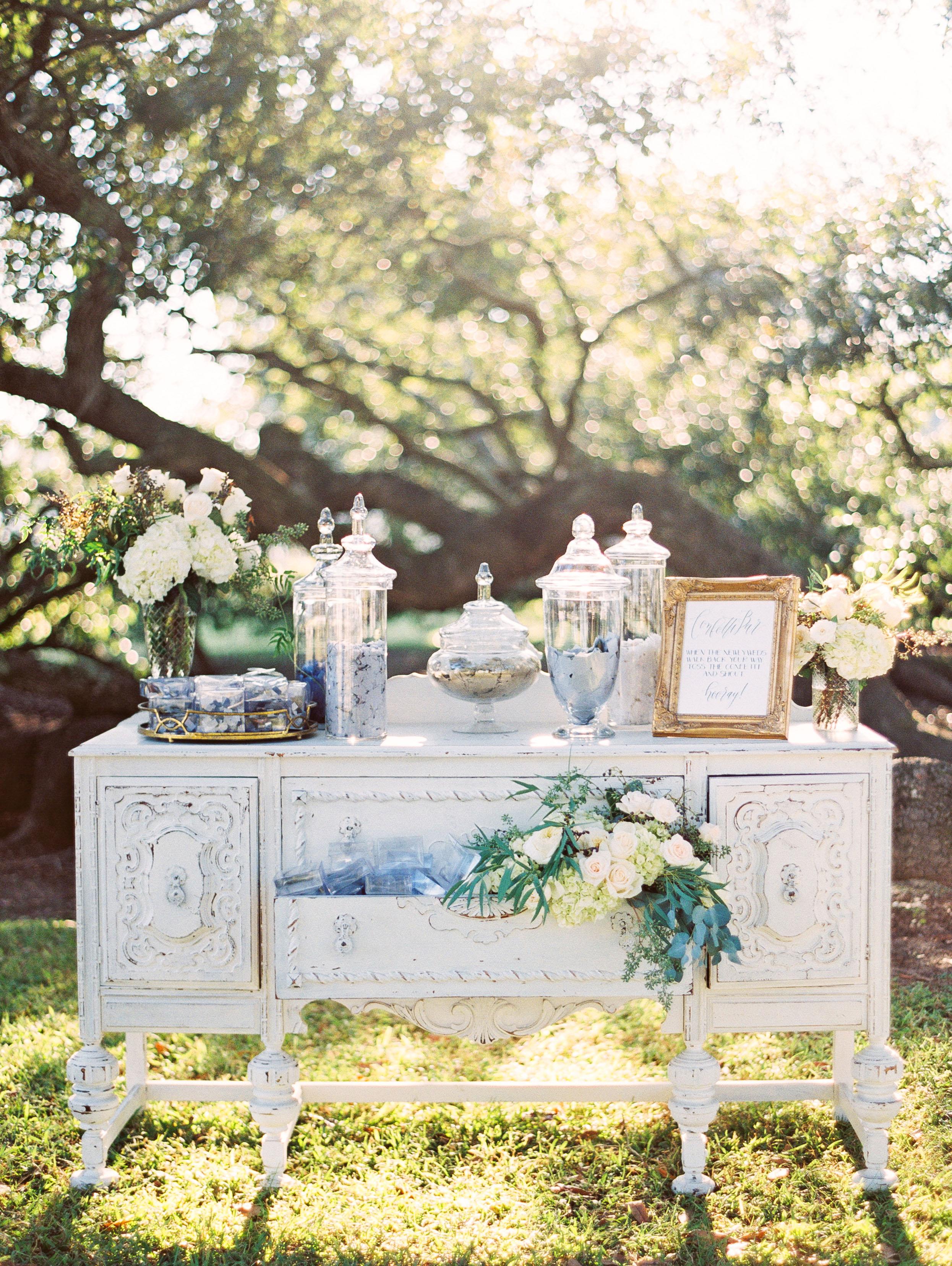 confetti table display greer gattuso