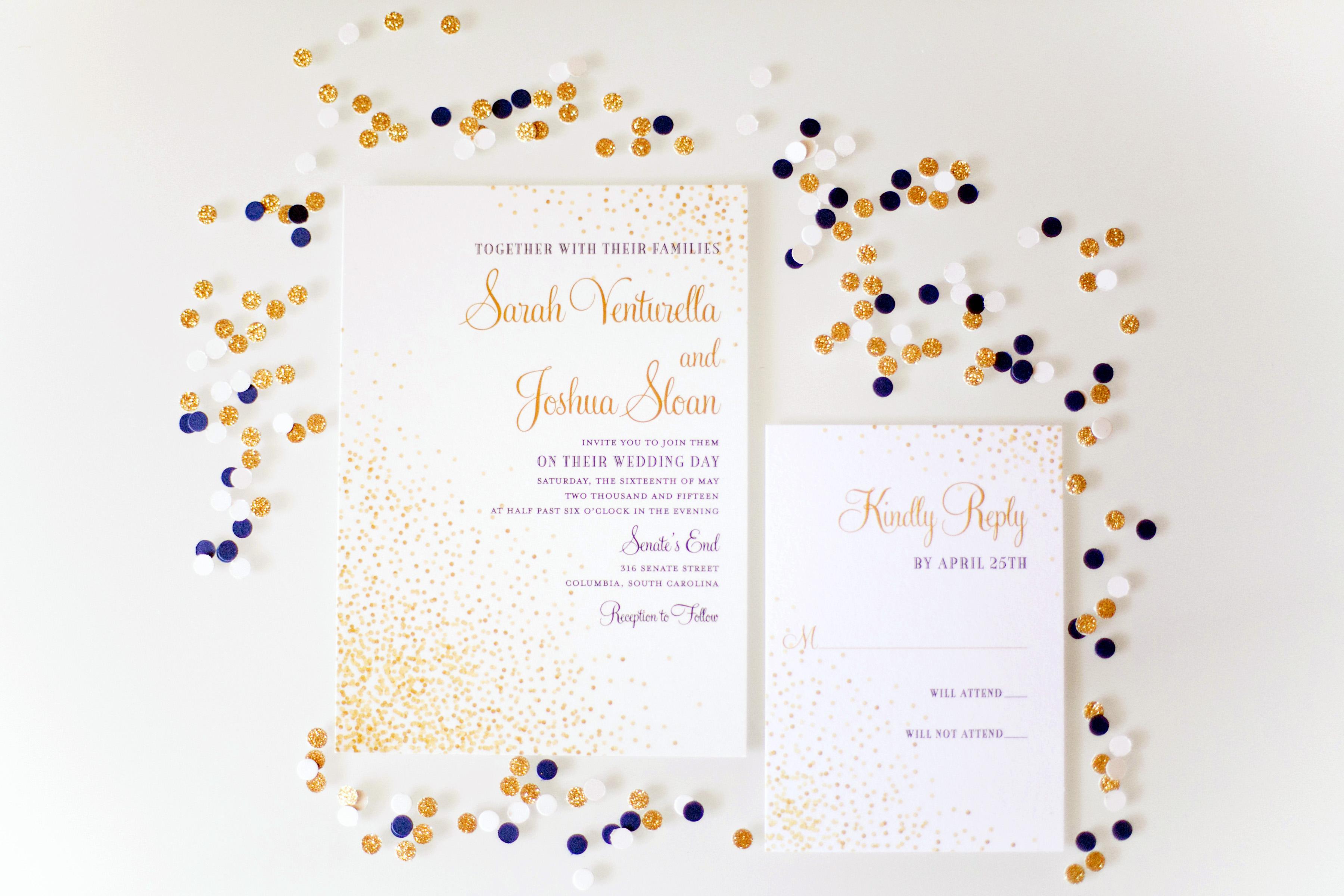 confetti invitations holly graciano