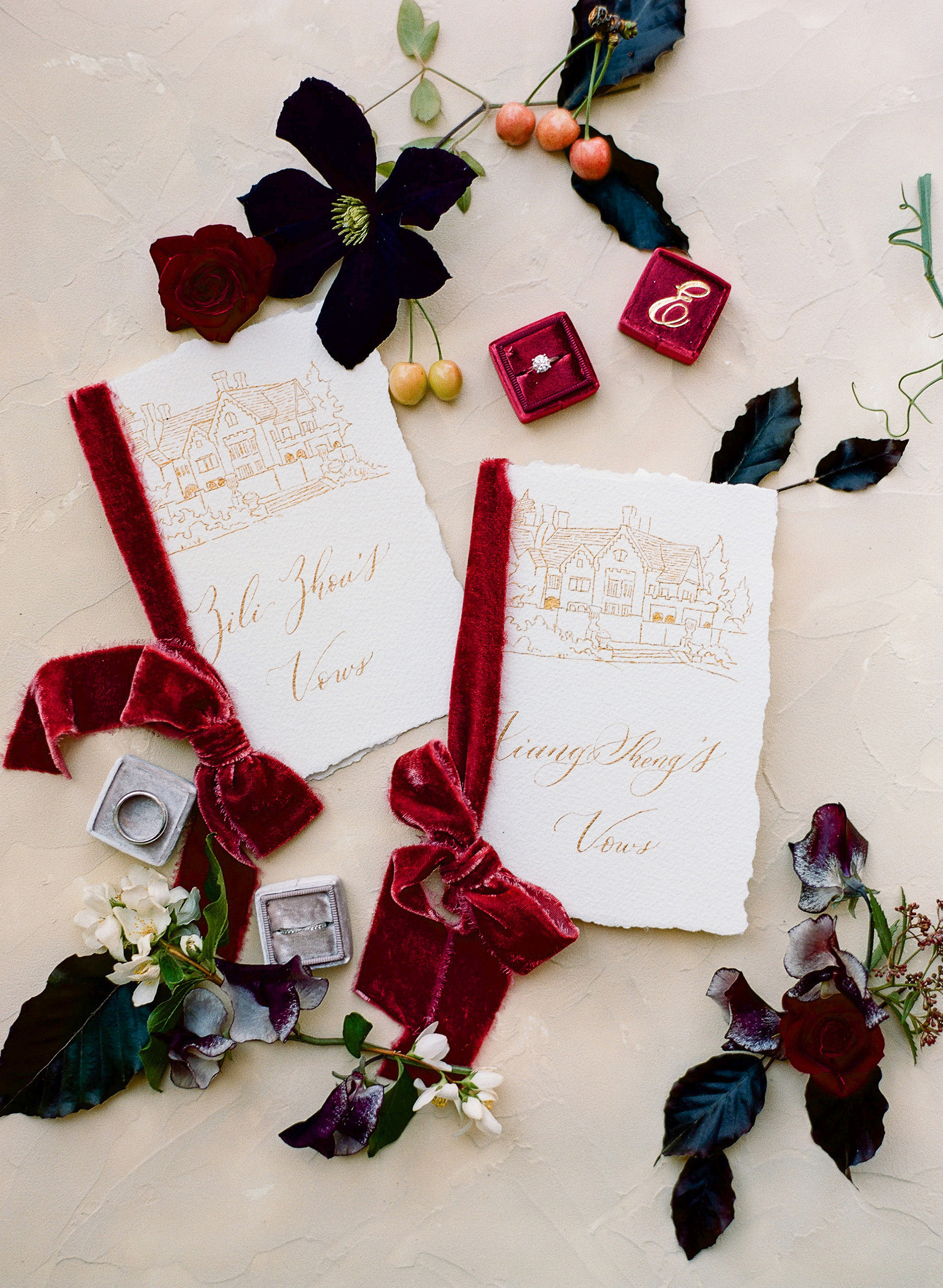 red wedding ideas the ganeys