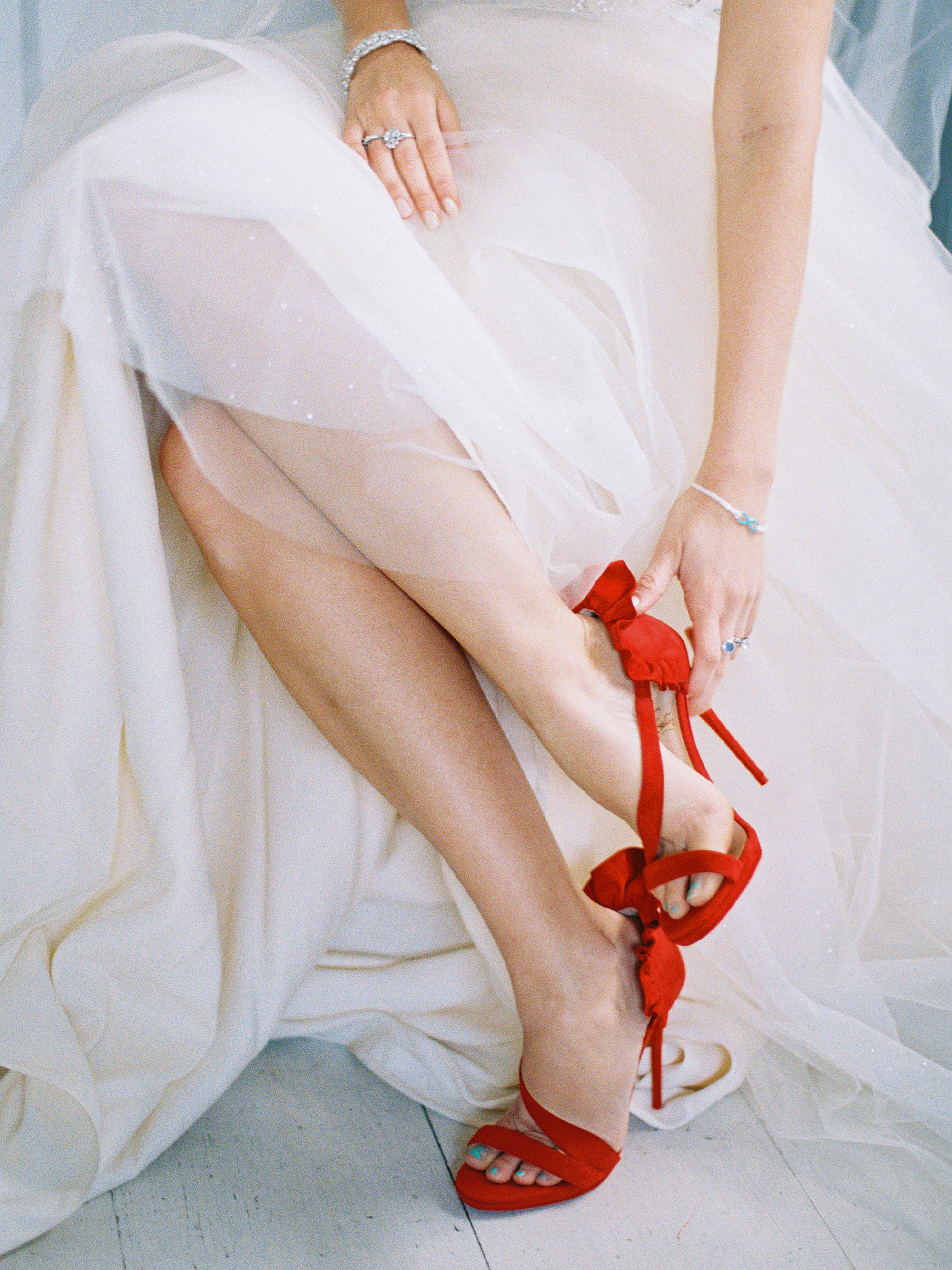red wedding ideas allen tsai shoes