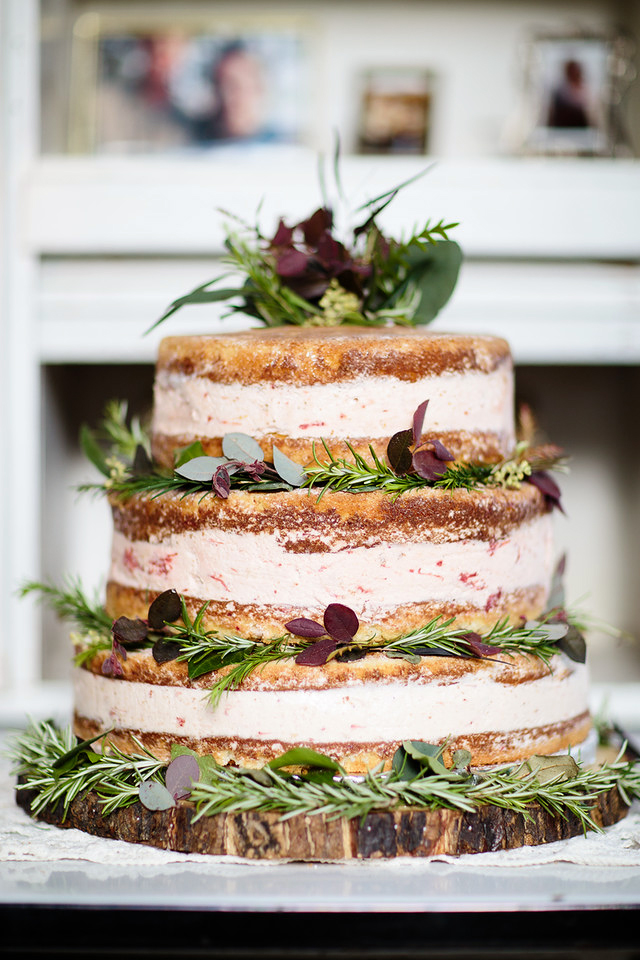If you're partial to the naked cake trend, but want something a bit more out-of-the-box, let Alyse Baca's ice cream creation inspire you. Especially at a summertime celebration, guests will be grateful for a treat that both keeps them cool and tastes great.