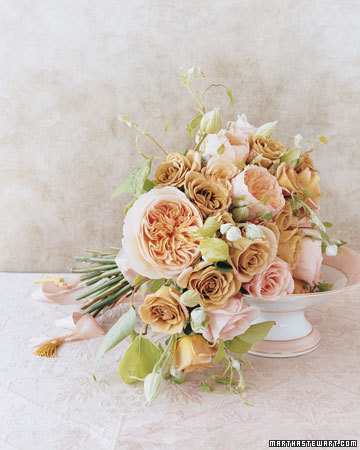 Pink, Peach, and Gold Bouquet