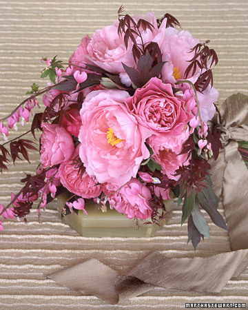 Bouquet With Peonies and Roses