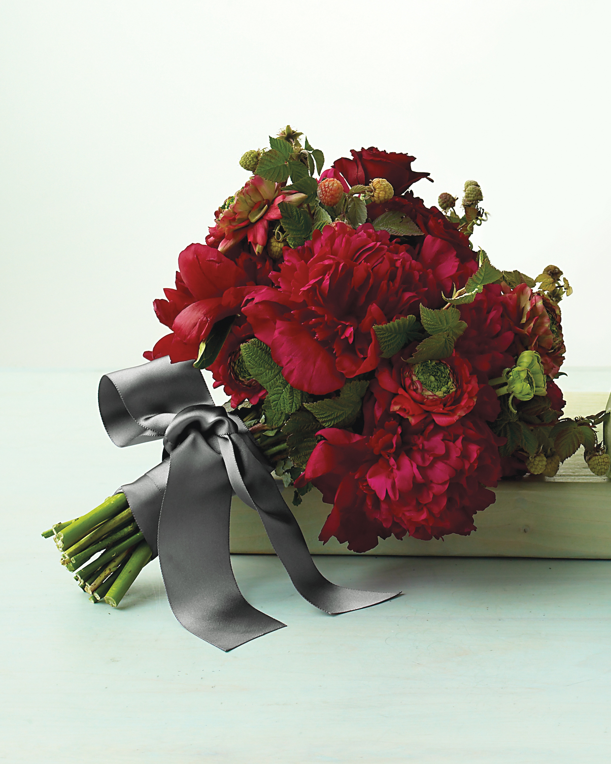 Red Peony Wedding Bouquet