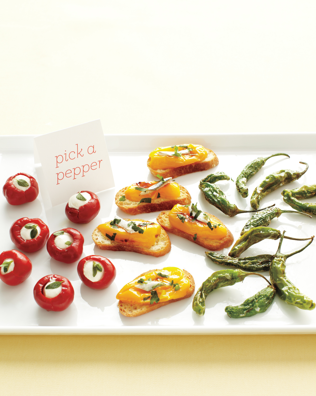 Roasted Pepper and White Anchovy Crostini