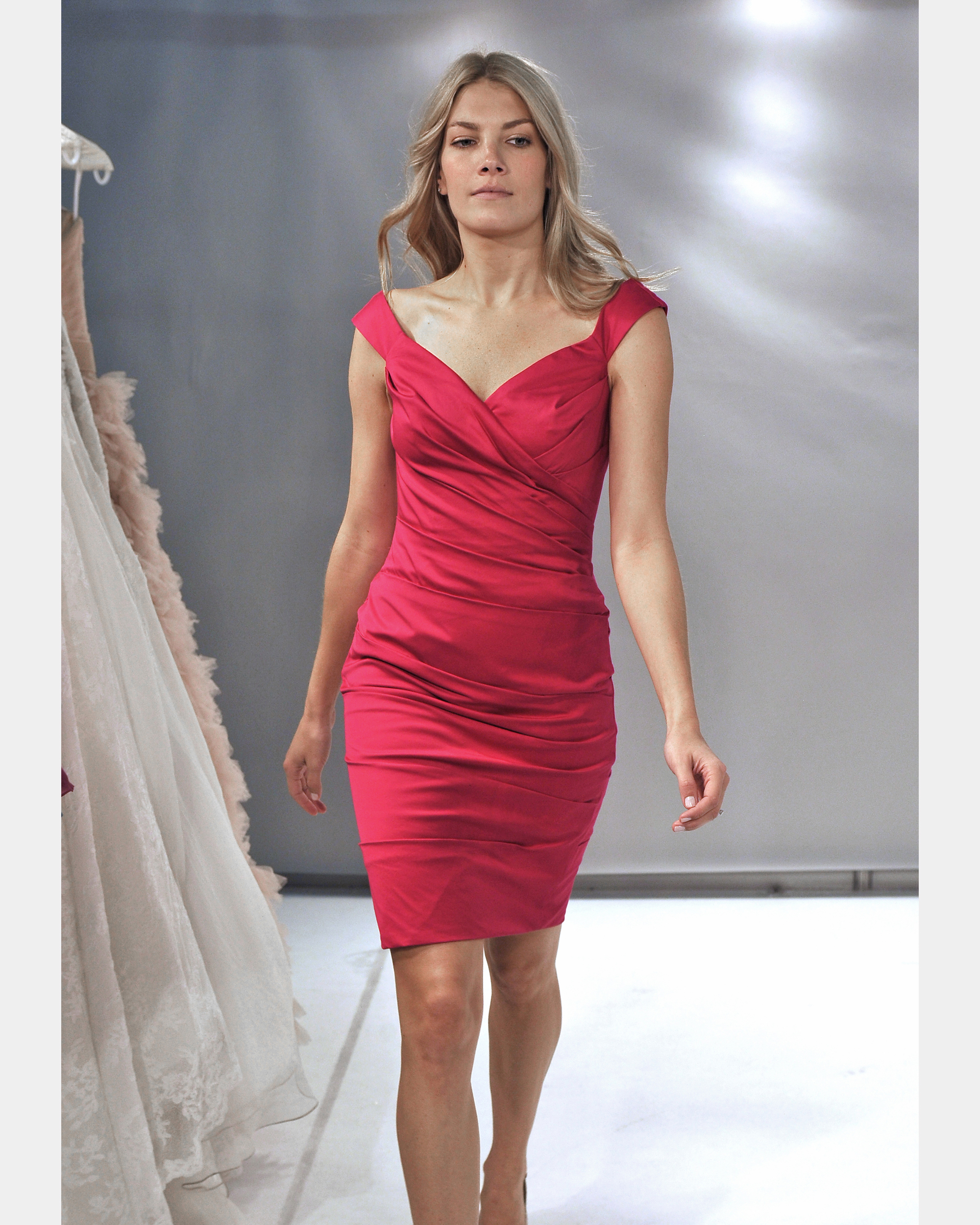 Short Red Bridesmaid Dress