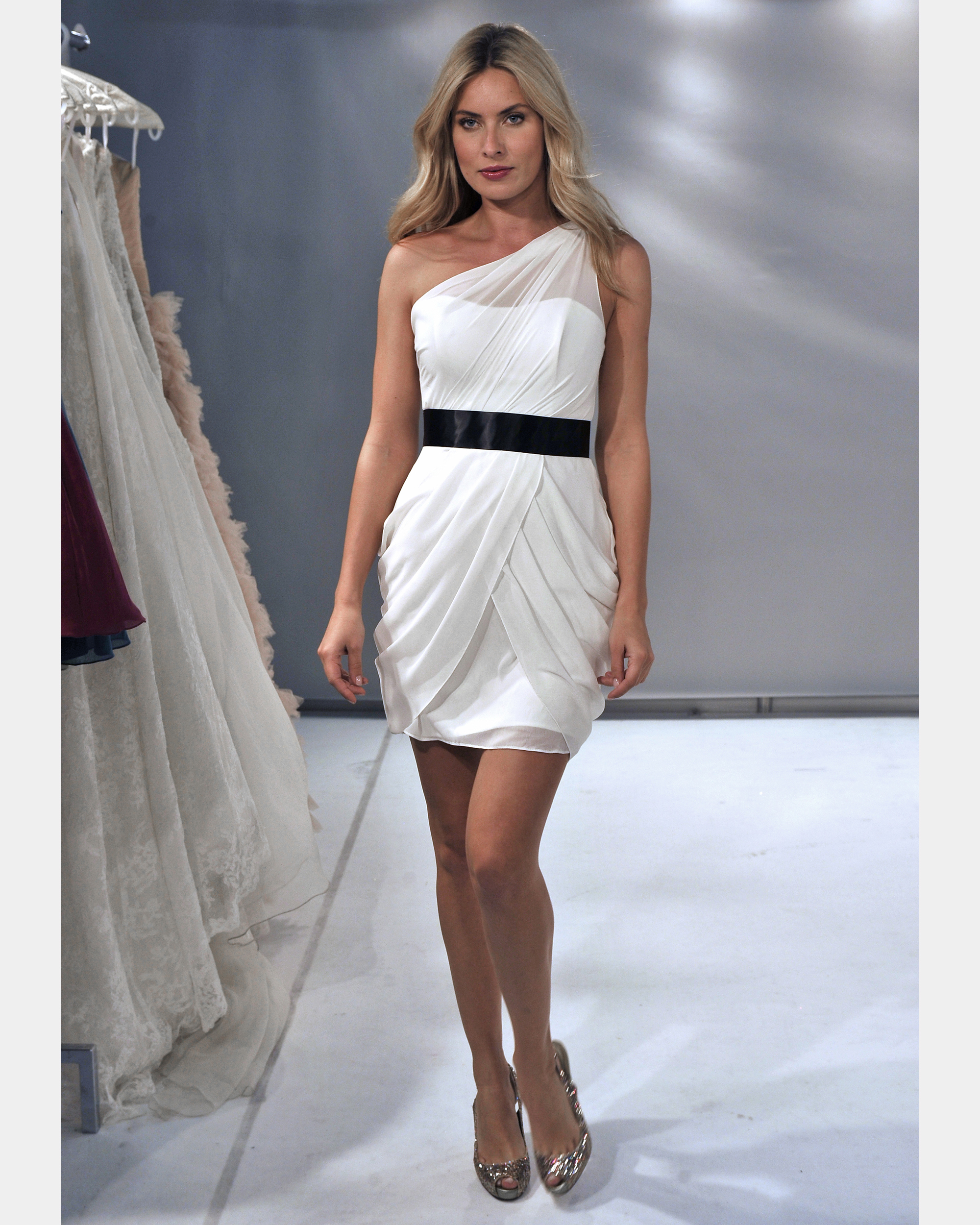 Short White Bridesmaid Dress