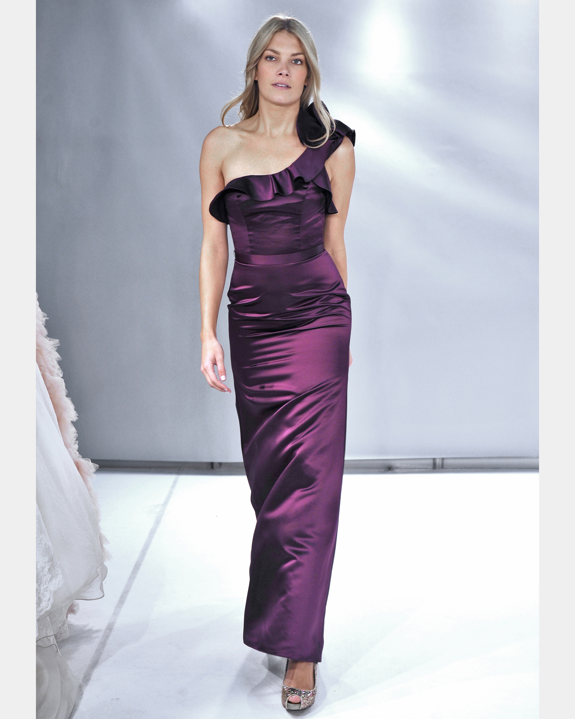 Long Purple Bridesmaid Dress