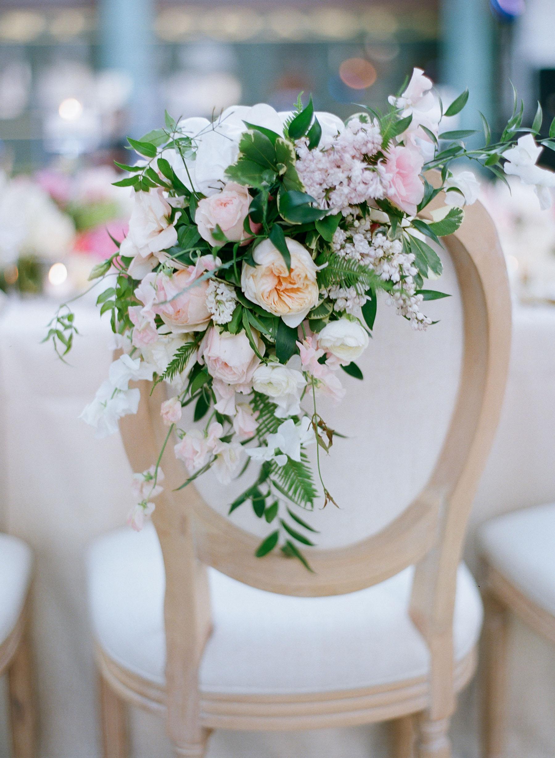 Chair Decor Chair Bouquet