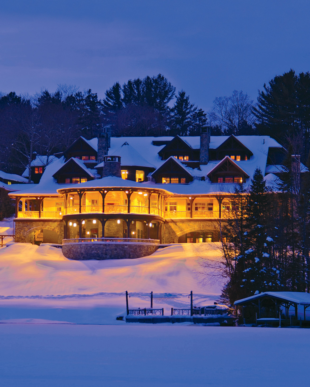 Consider Tying the Knot at the Picturesque Lake Placid Lodge in the Adirondacks
