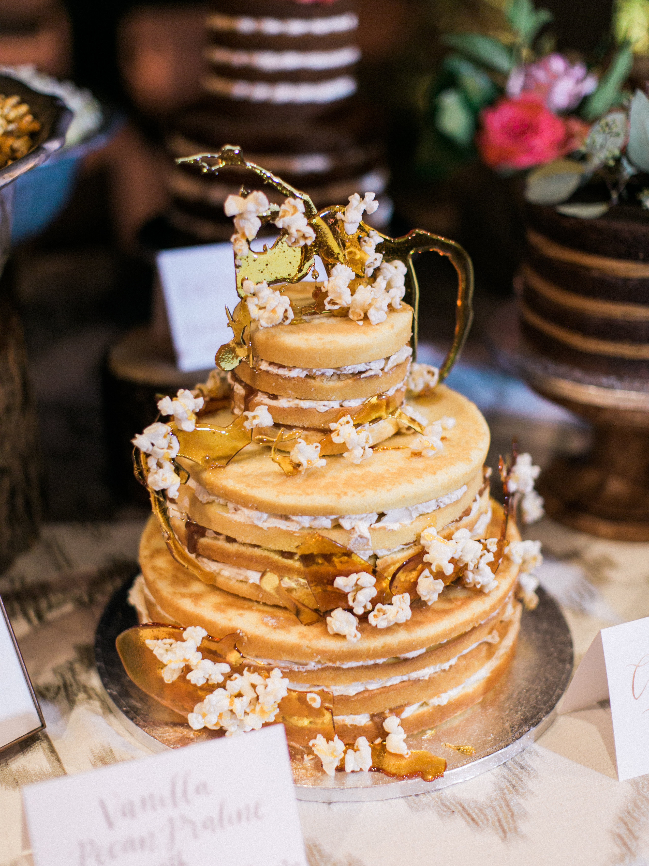 popcorn wedding cake