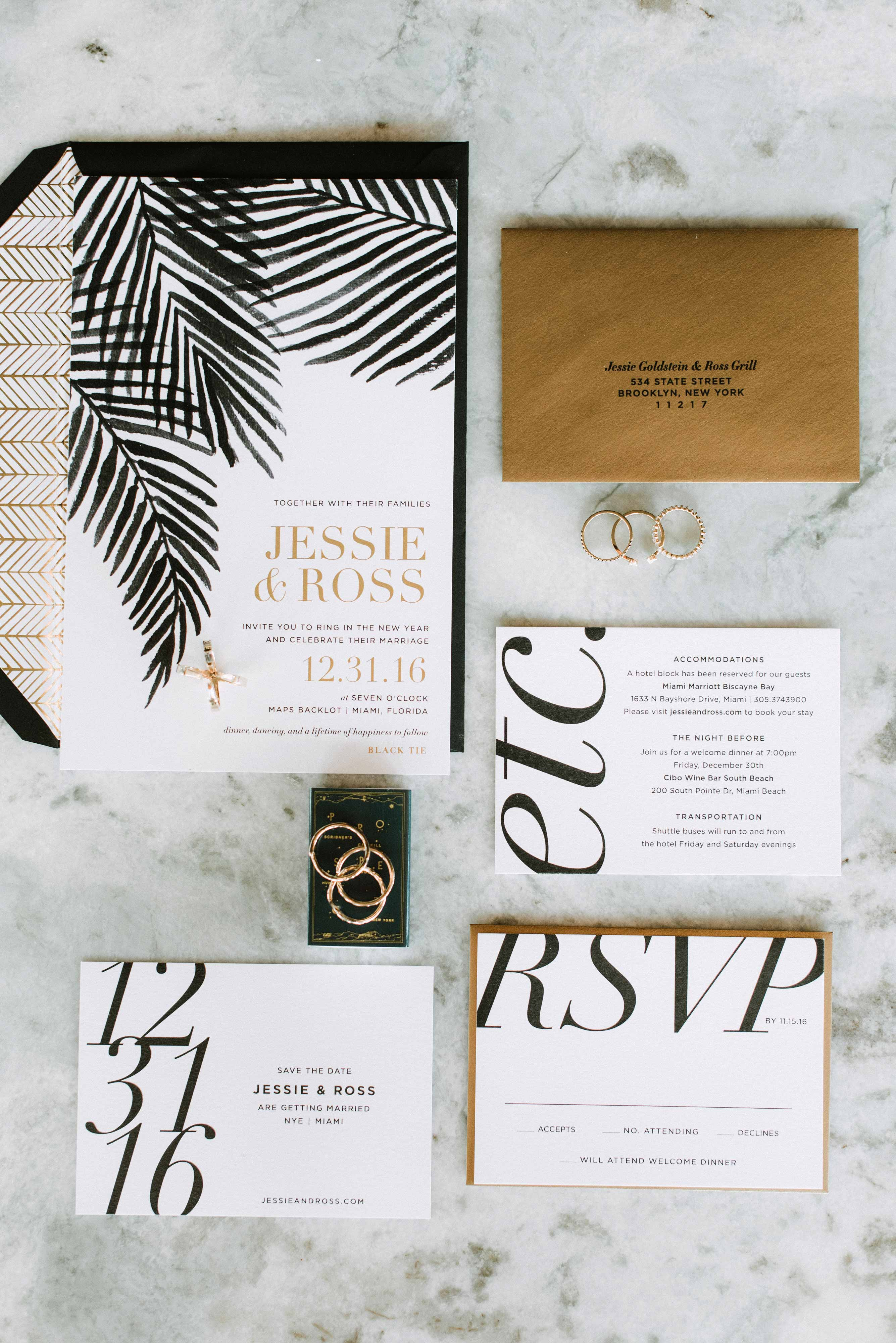 modern wedding stationery suite