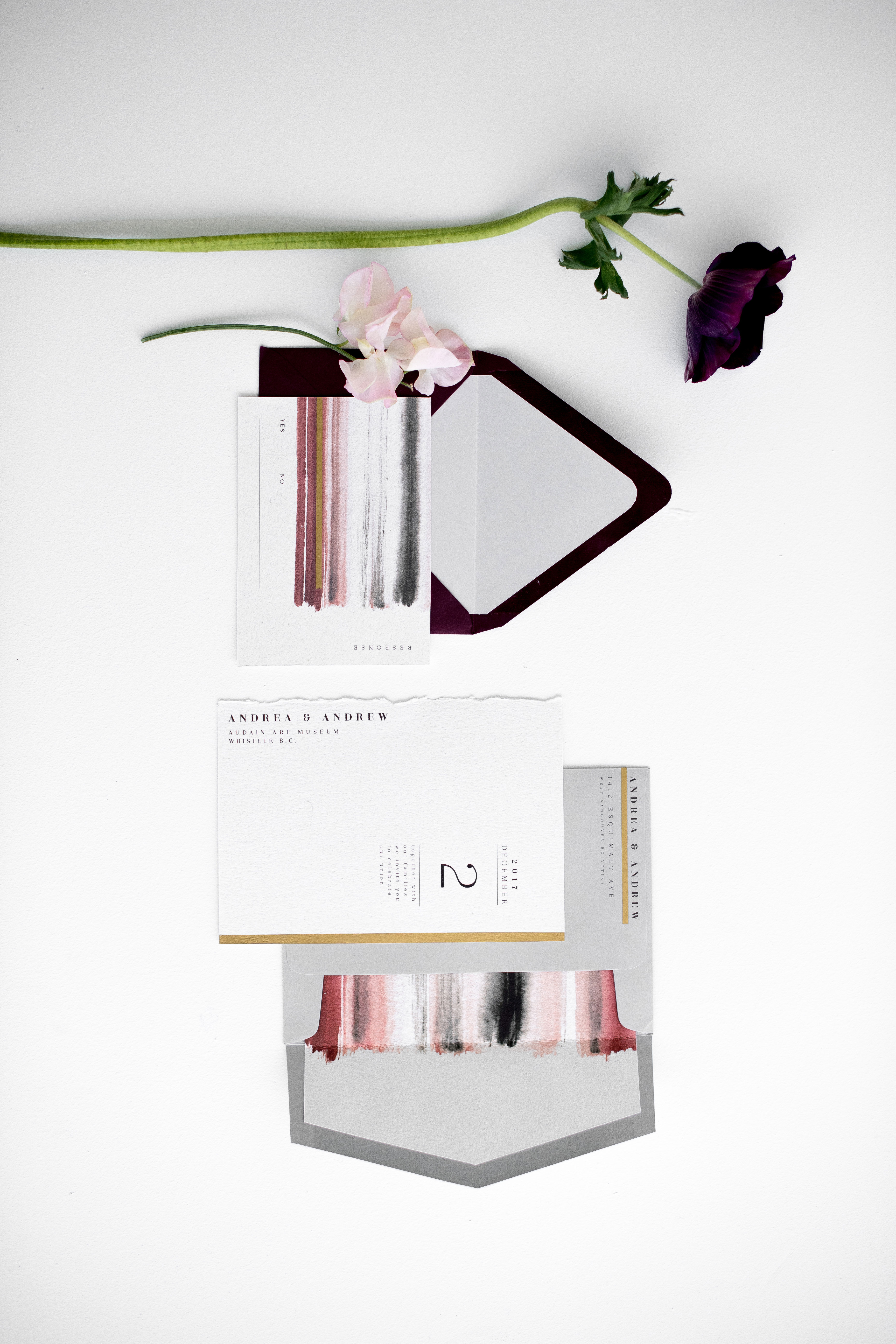 painted modern stationery suite