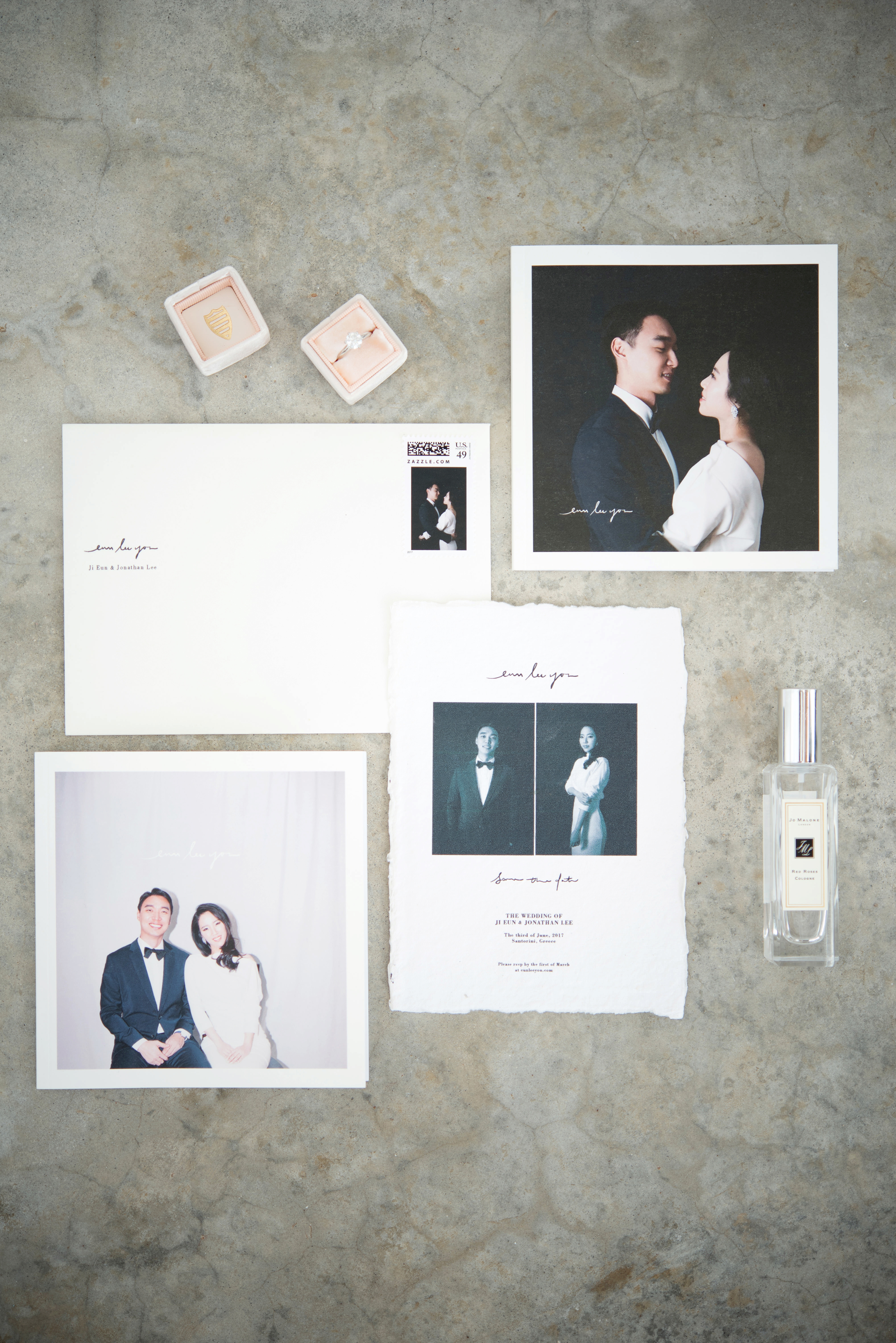 modern invitation suite photos