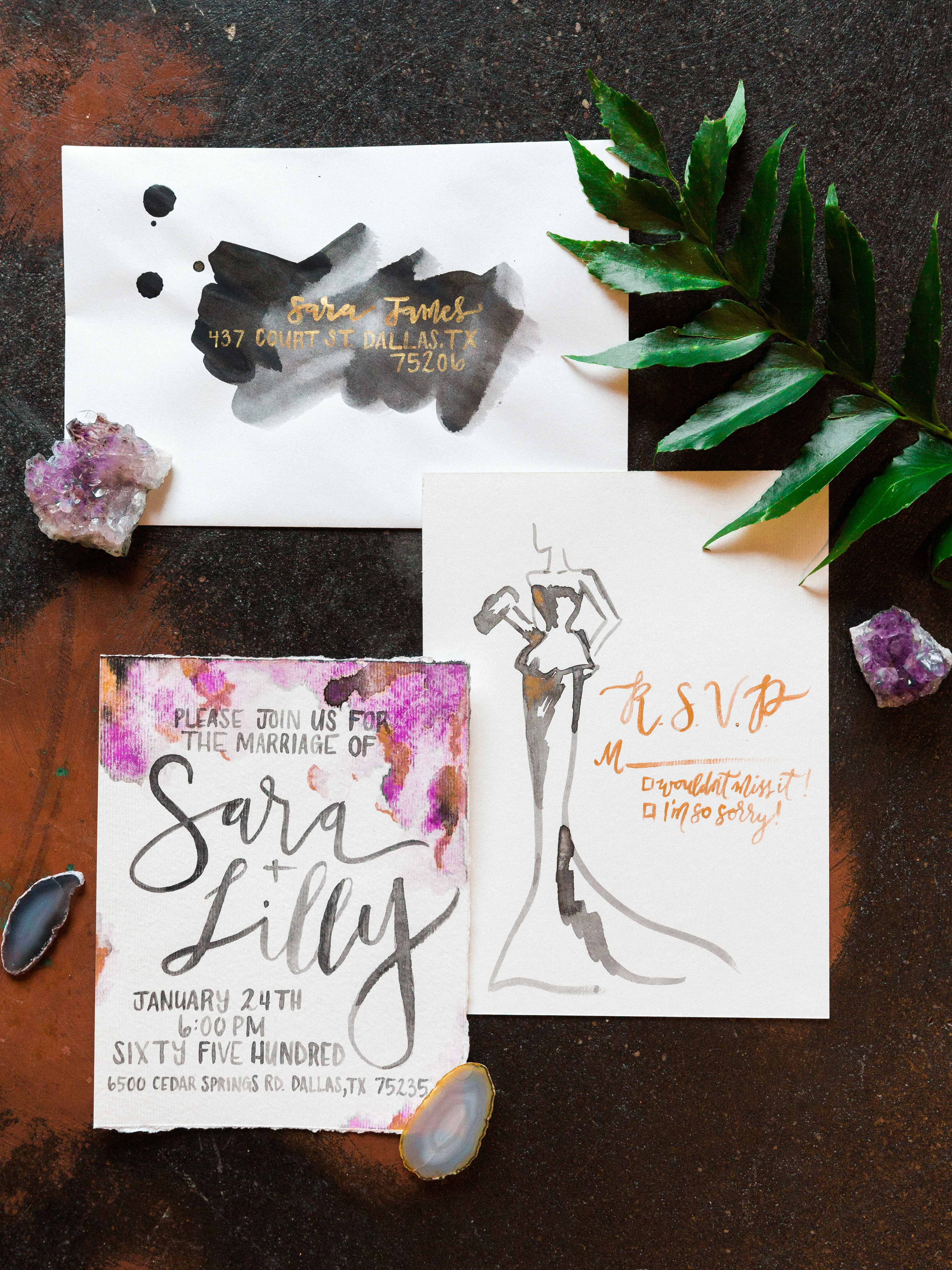 painted stationery suite