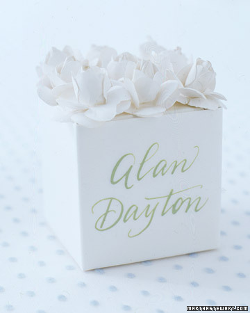 White Box with Flower