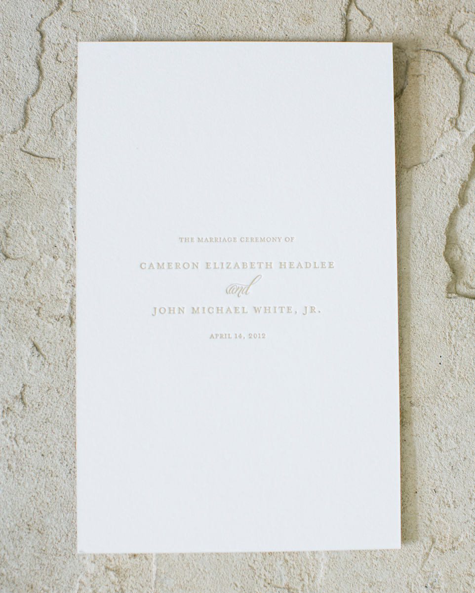 Classic Wedding Ceremony Programs