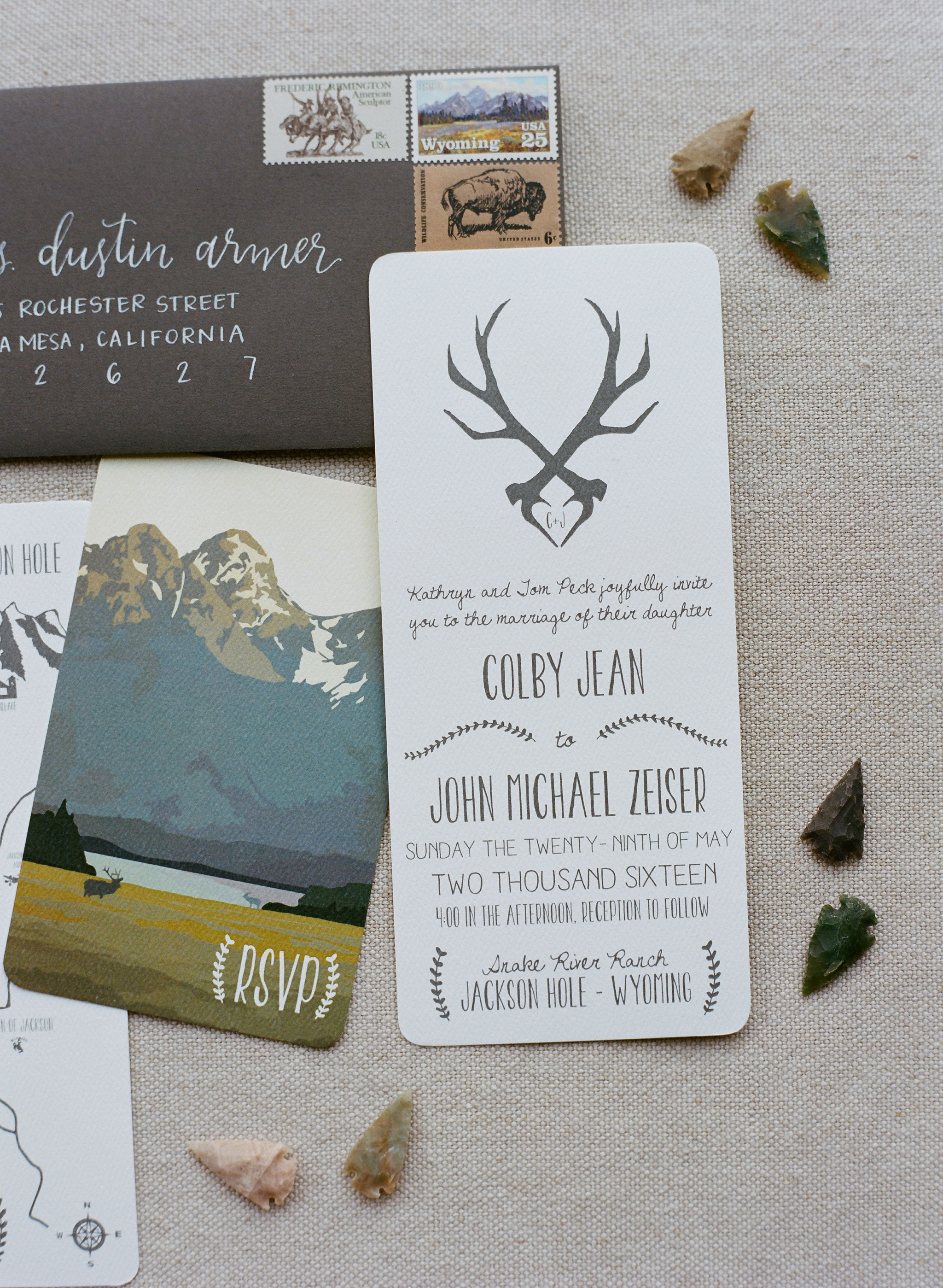 Colby John wedding invite