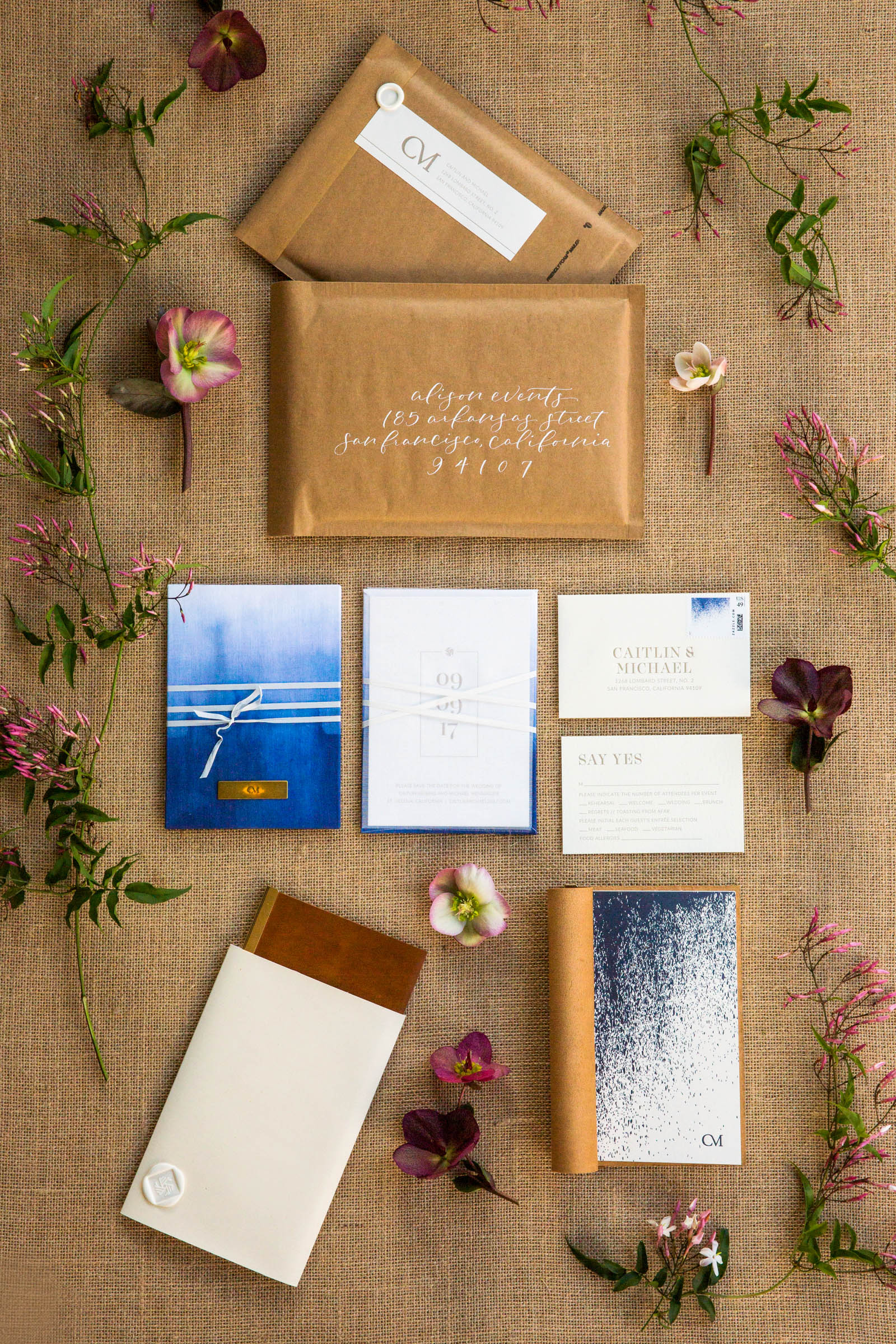 Fabric Save-the-Dates