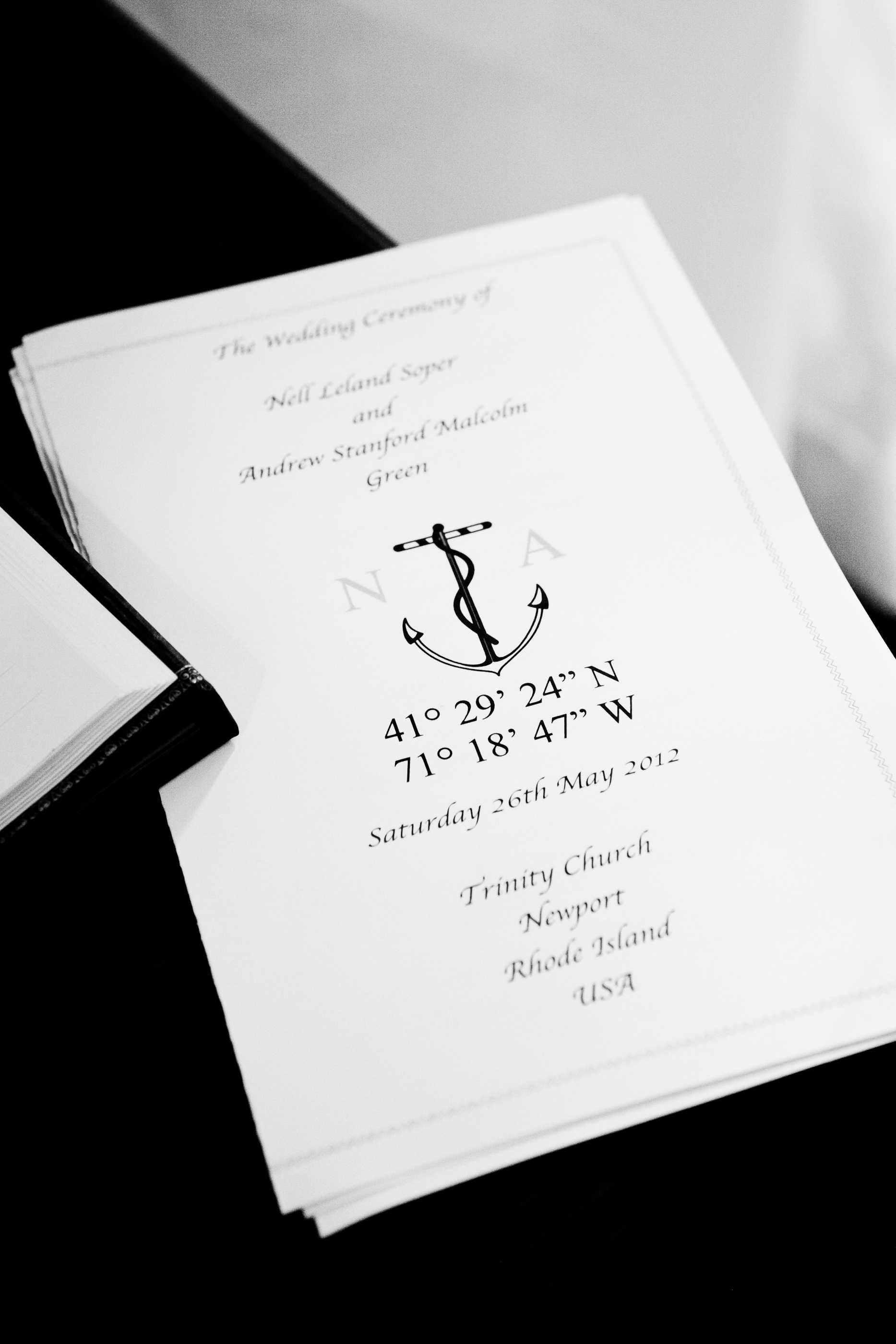 formal nautical stationery