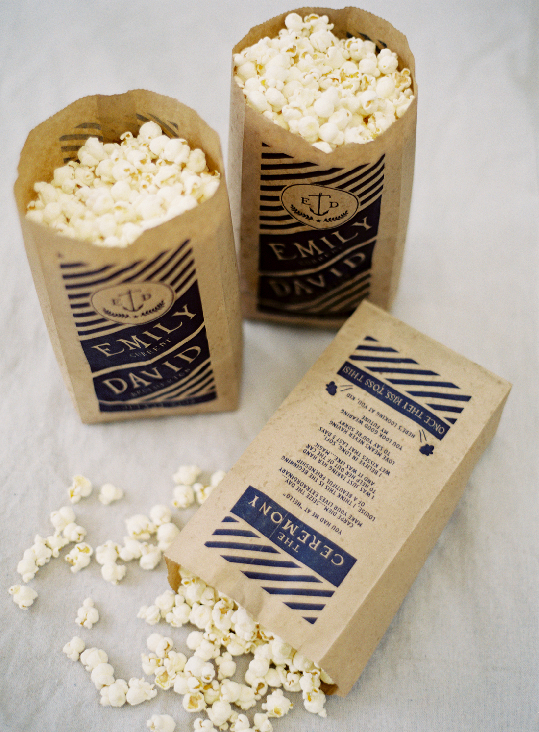 popcorn bag ceremony program