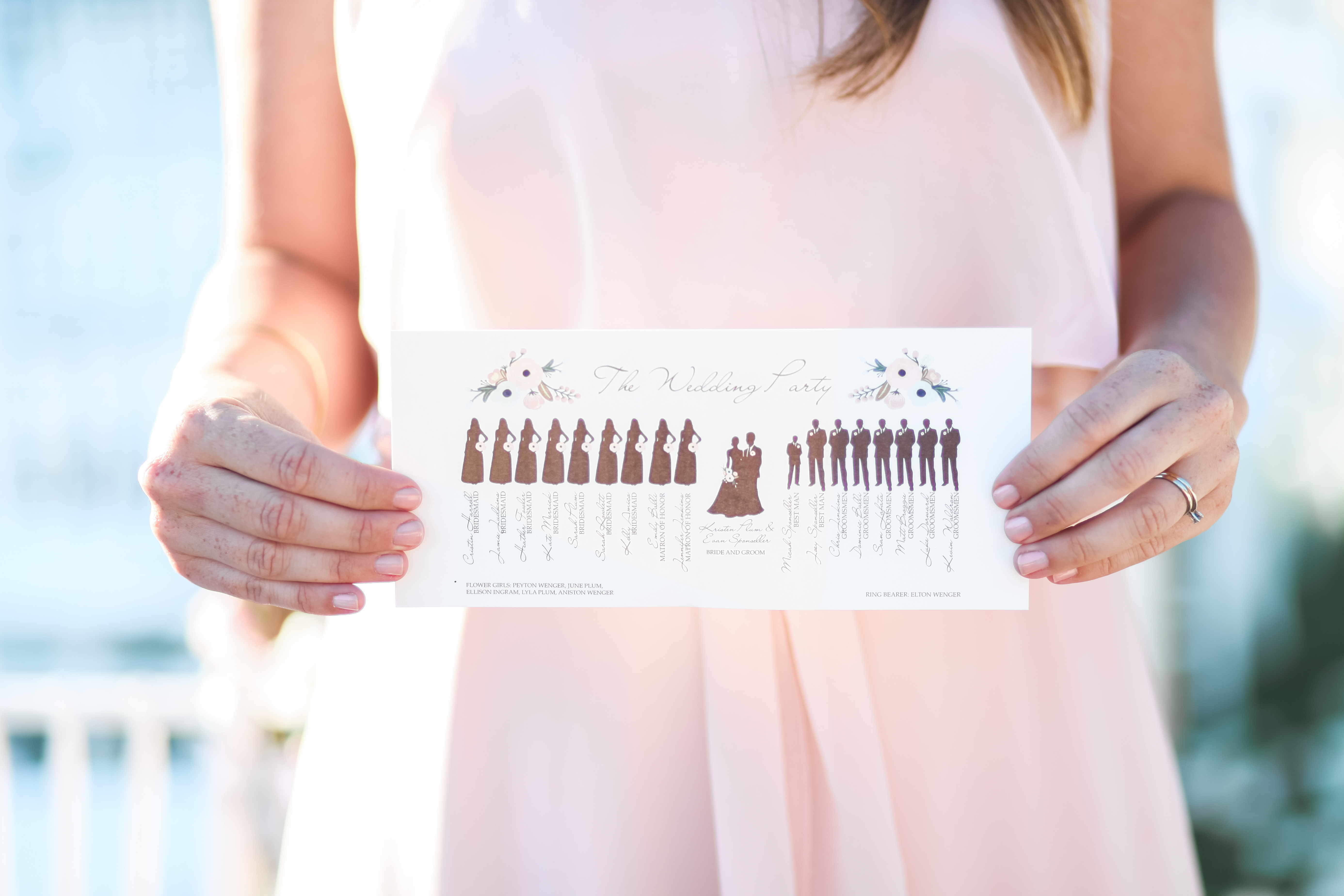 ceremony program with silhouettes