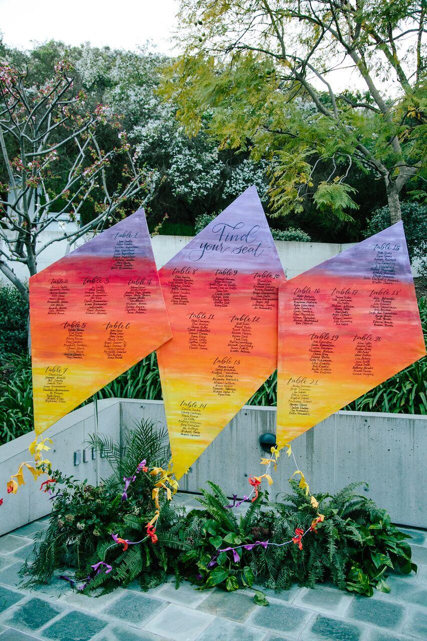 kite escort card sign