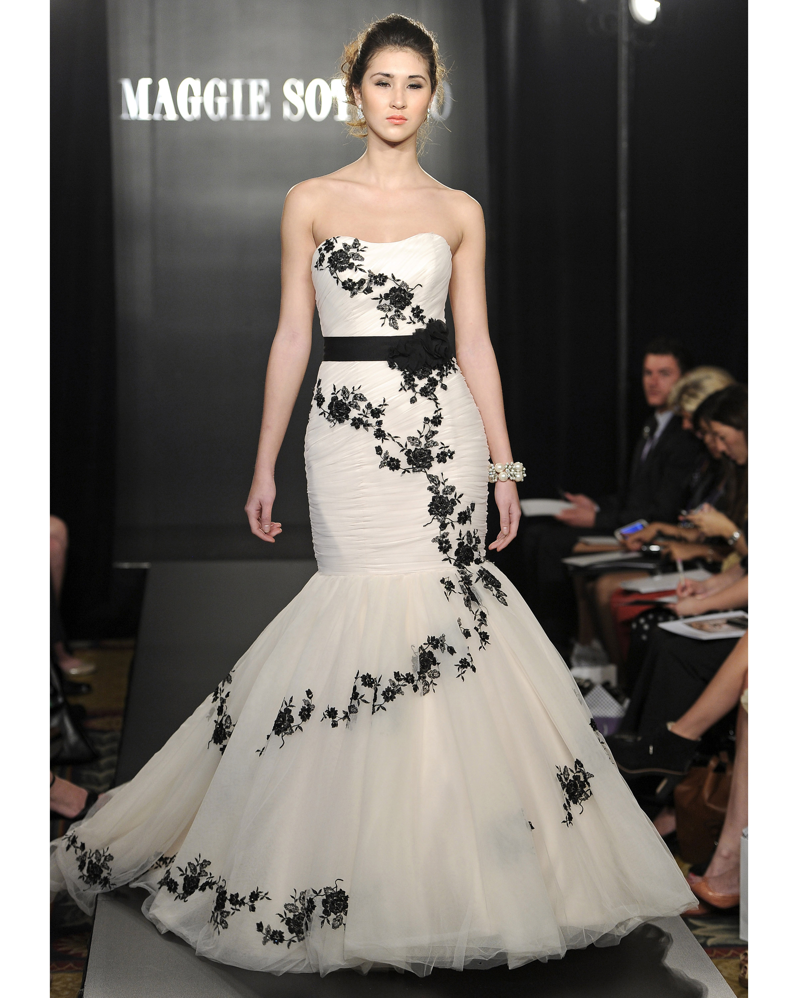 Black-and-White Wedding Dresses, Spring 2013 Bridal Fashion Week