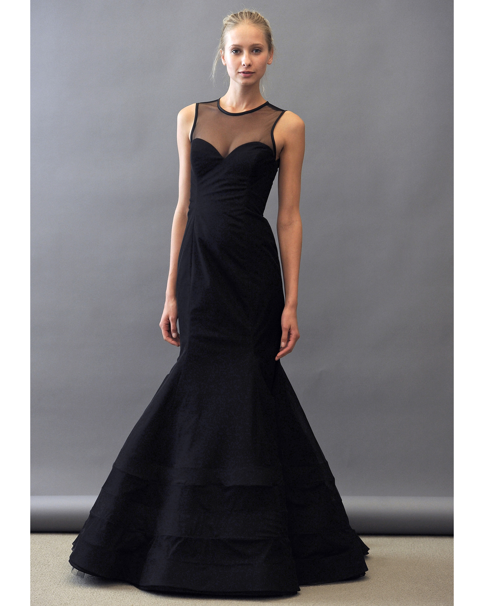 Trumpet Bridesmaid Dress in Black