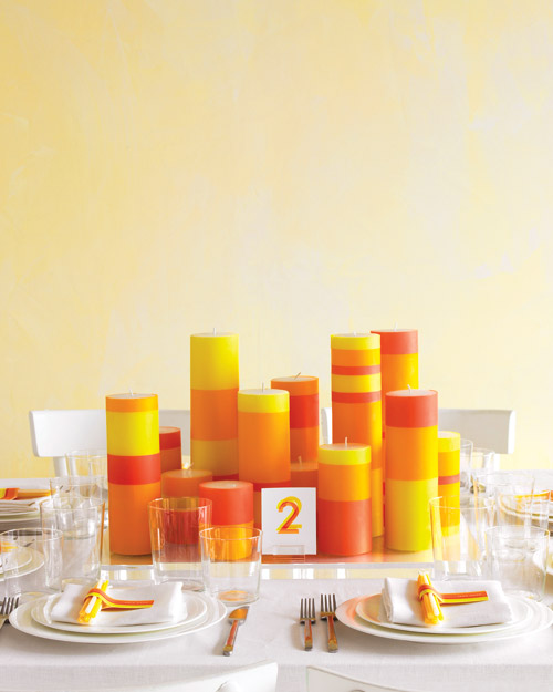 Bold and Modern Wedding Table Setting