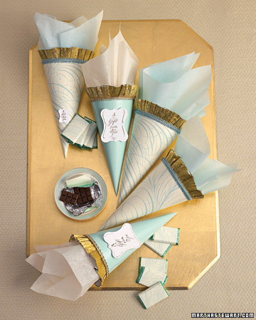Calligraphy Cone Favors