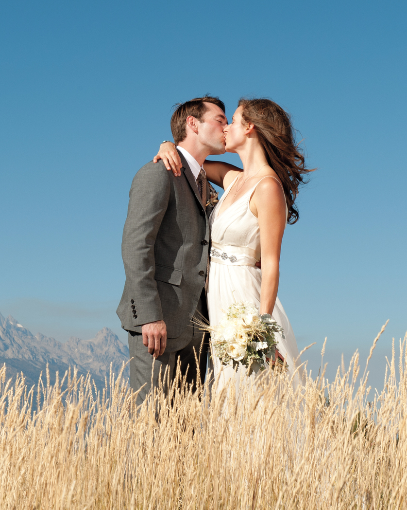 A Vintage, Rustic Autumn Wedding Outdoors in Wyoming