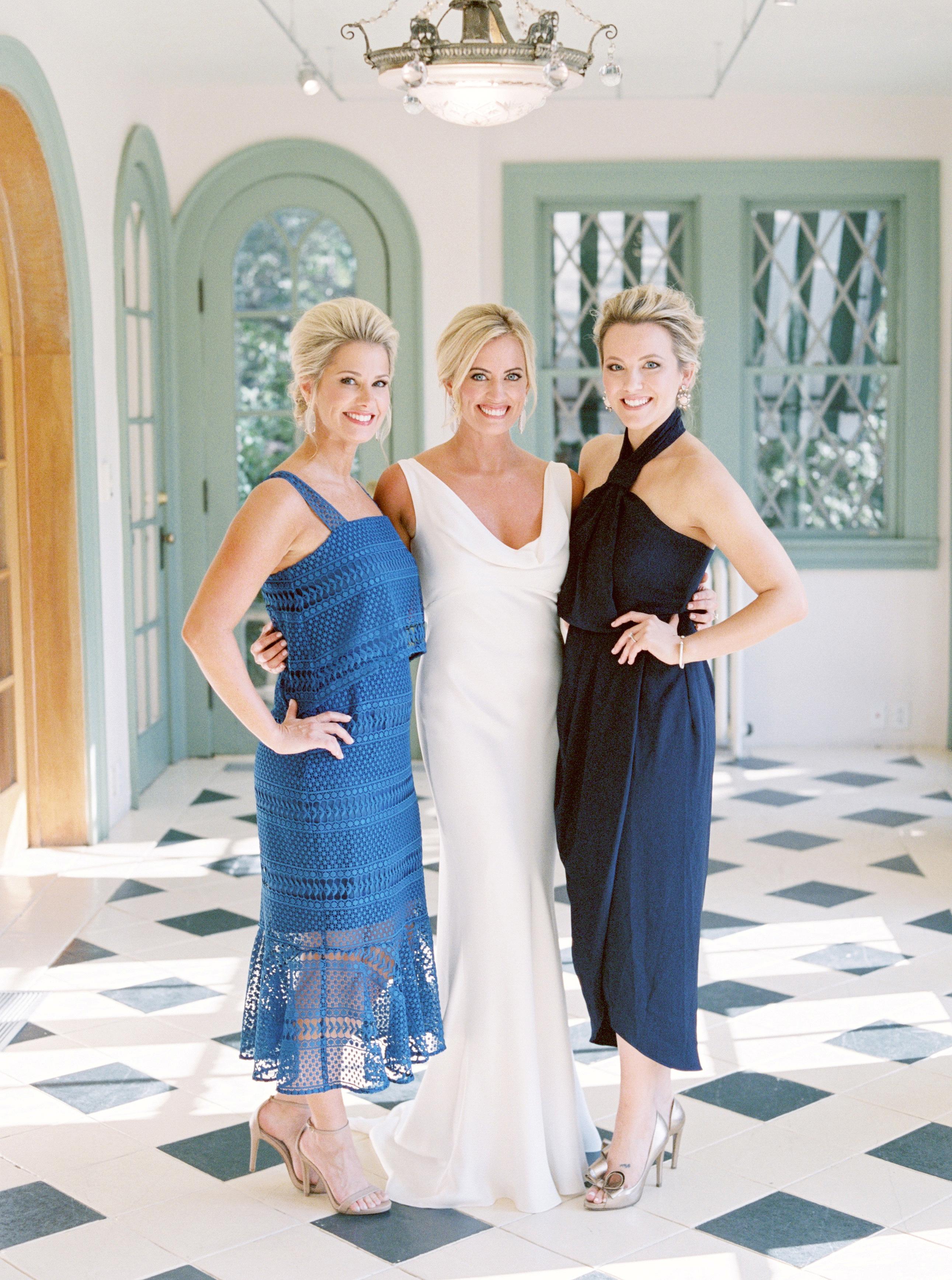 blue guest dresses bride