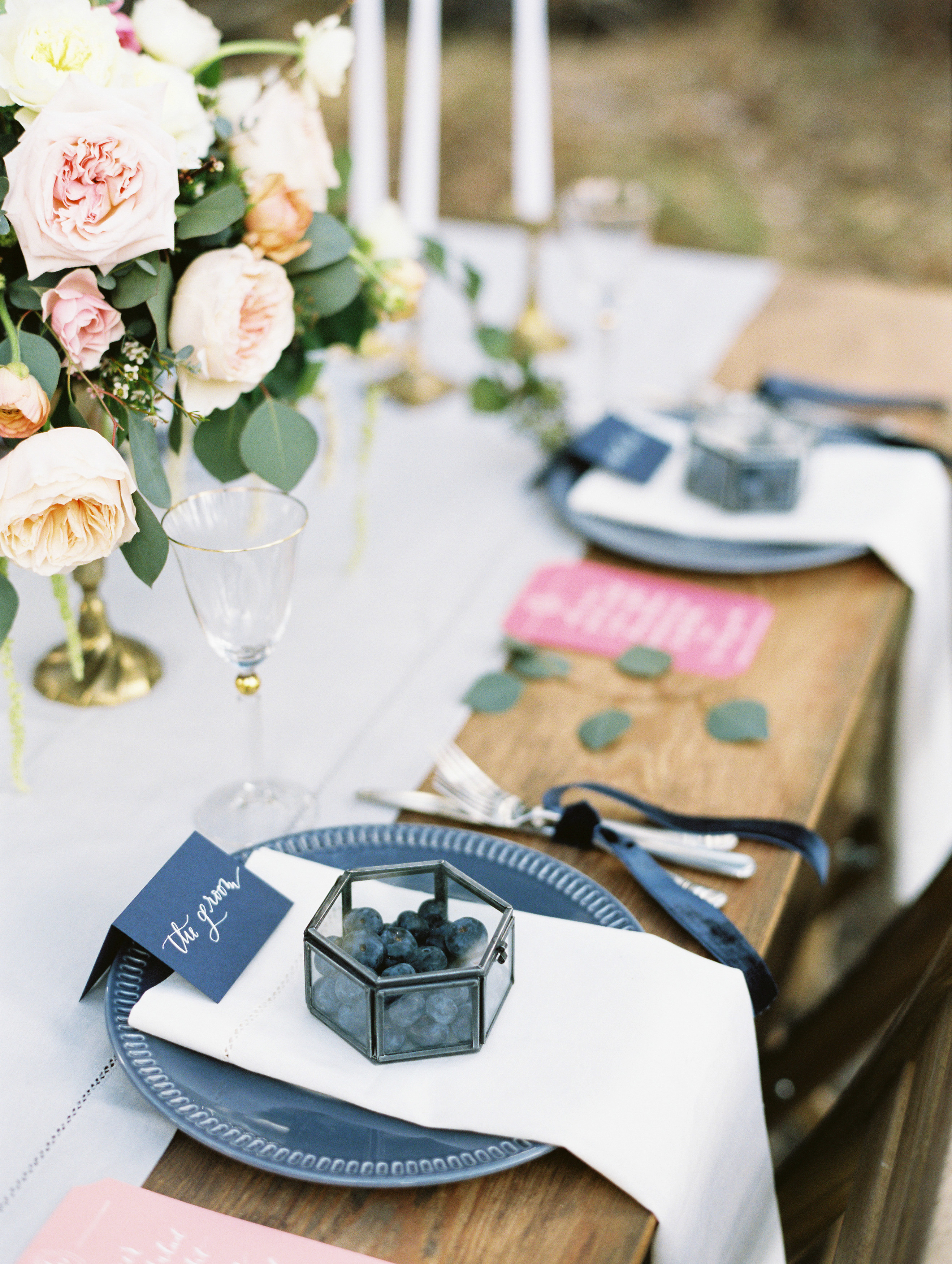 berry wedding ideas christie graham groom place setting