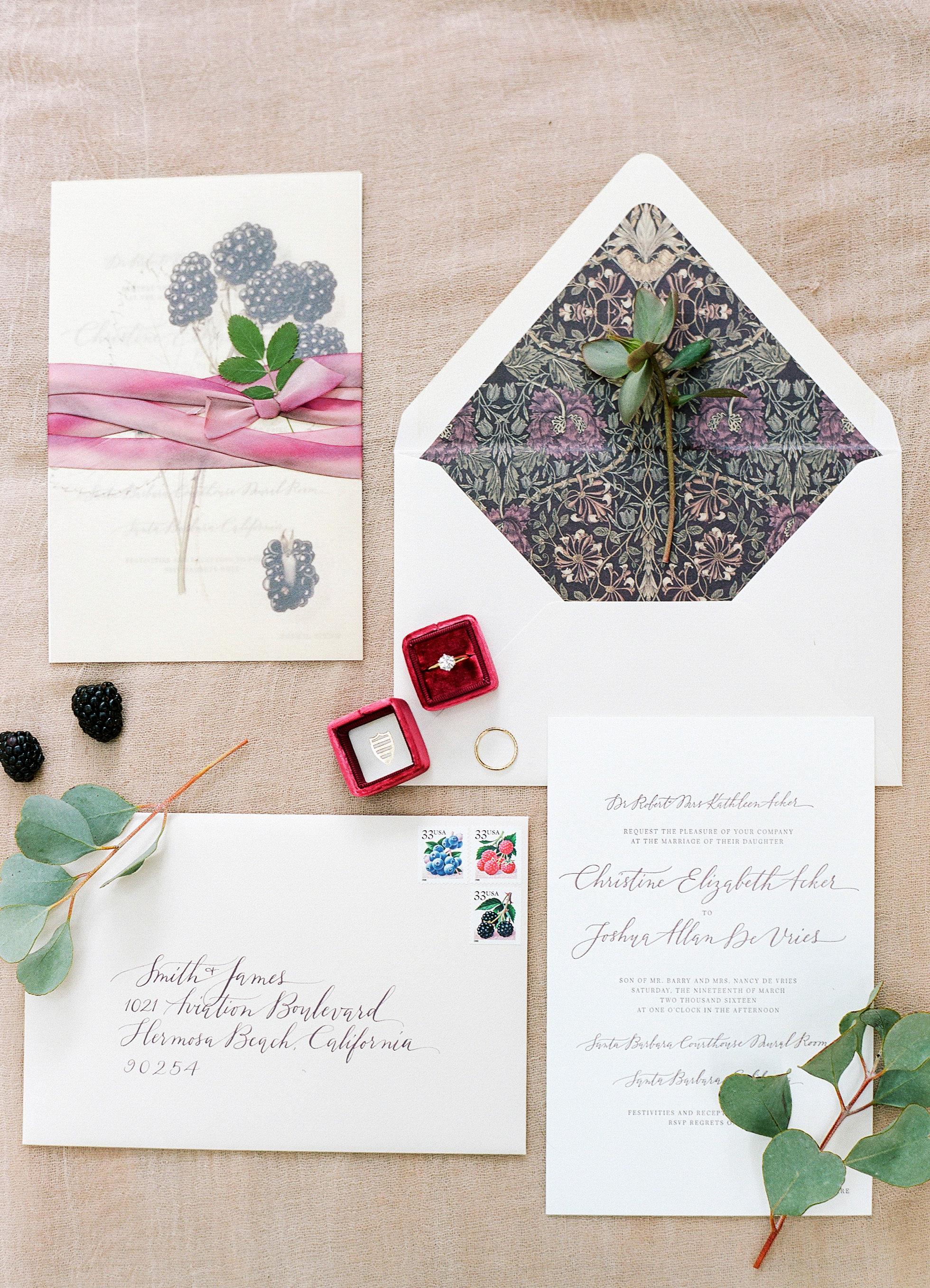 berry wedding ideas blackberry invitation