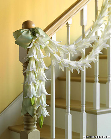 Fragrant Lily Garland for a Wedding