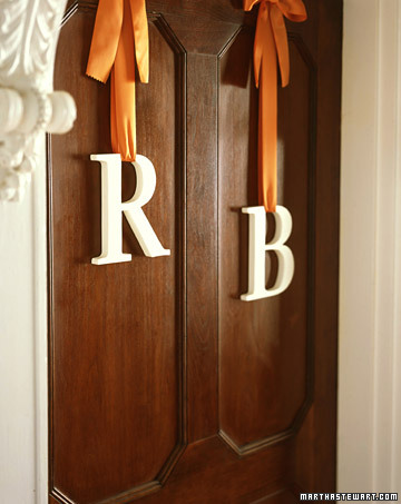 Monogrammed Entry to the Wedding Ceremony