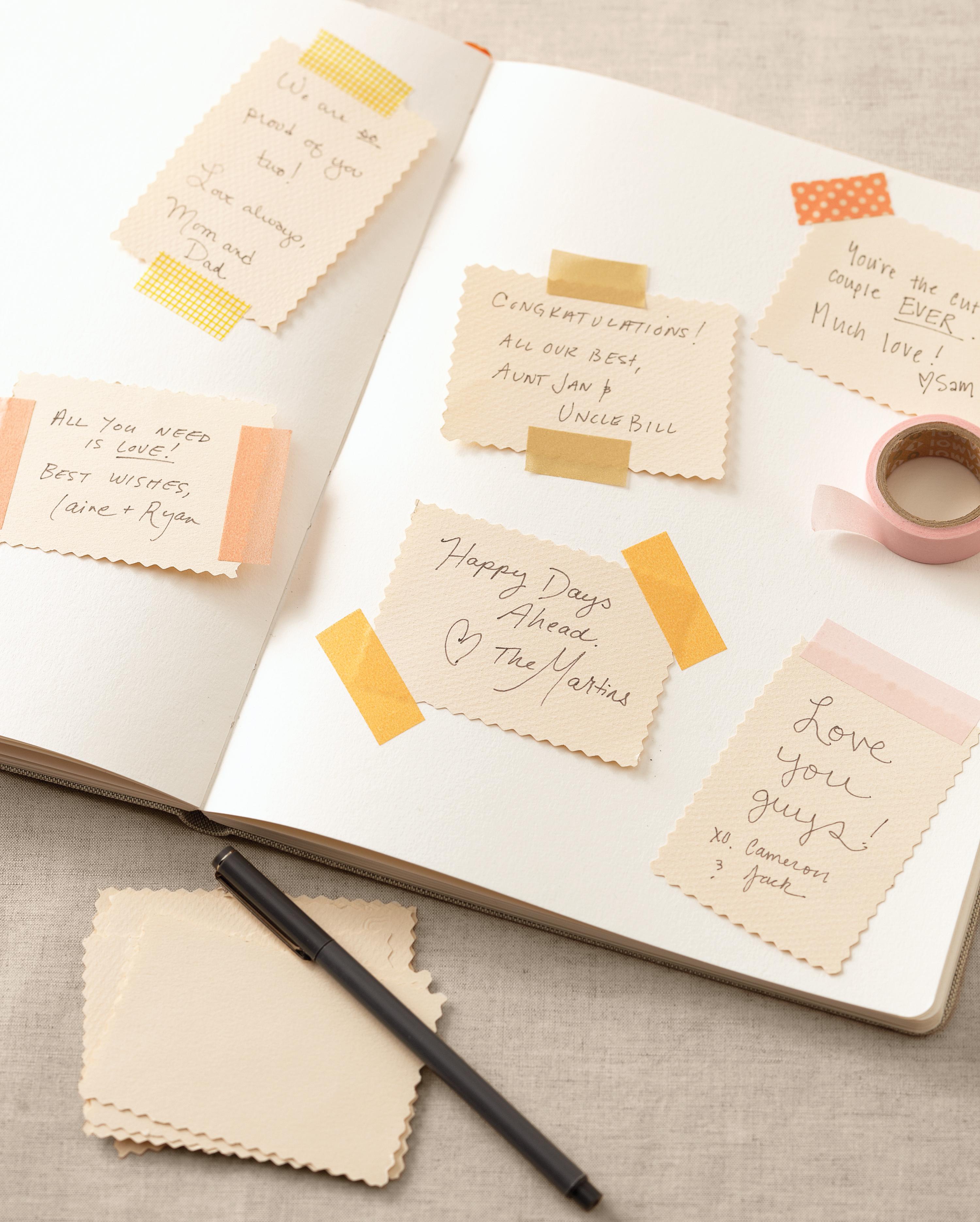 Diy Wedding Guest Book Ideas Martha Weddings