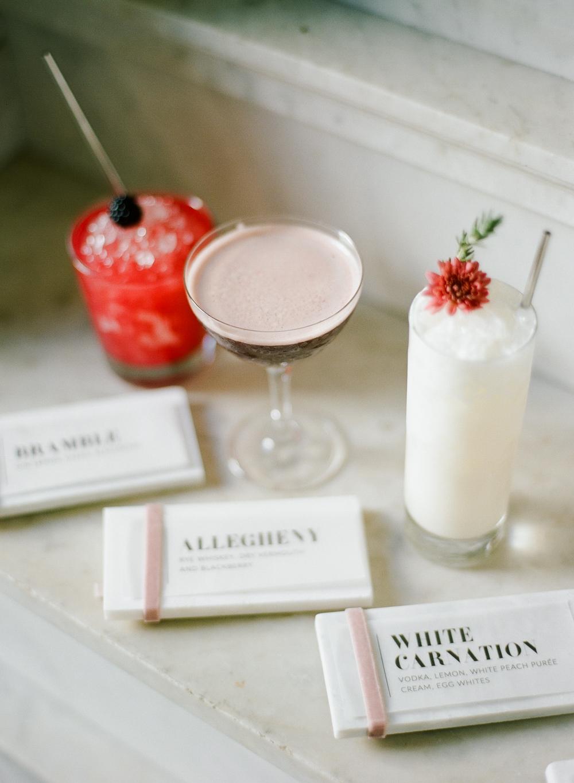 three signature cocktails