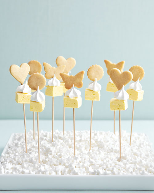 Lemon-Meringue Cookie Kebabs