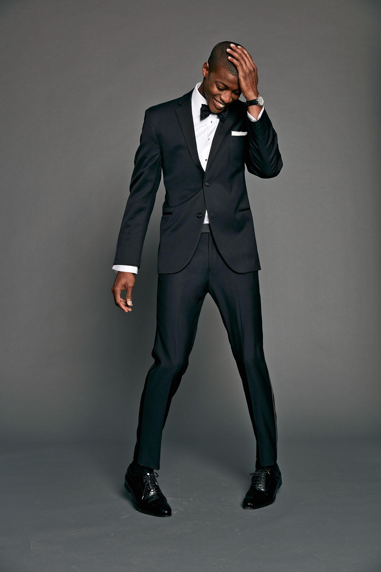 Black by Vera Wing Tuxedo Shirt