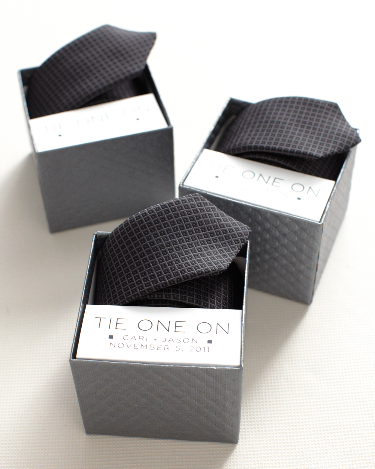 Groomsmen Tie-Box Label Clip Art