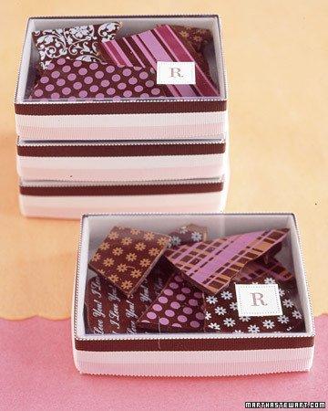 Printed Chocolate Wedding Favors