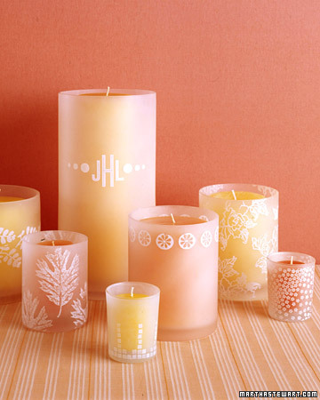 Stamped Glass Candleholders