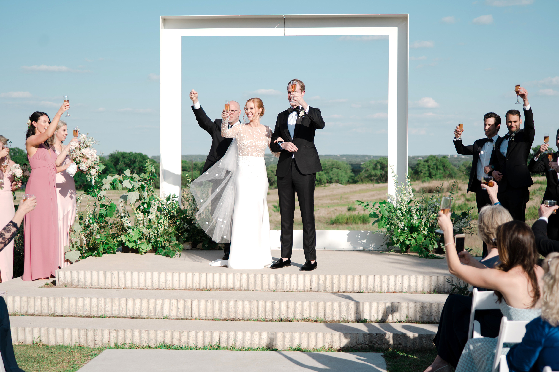brittany peter wedding ceremony toast