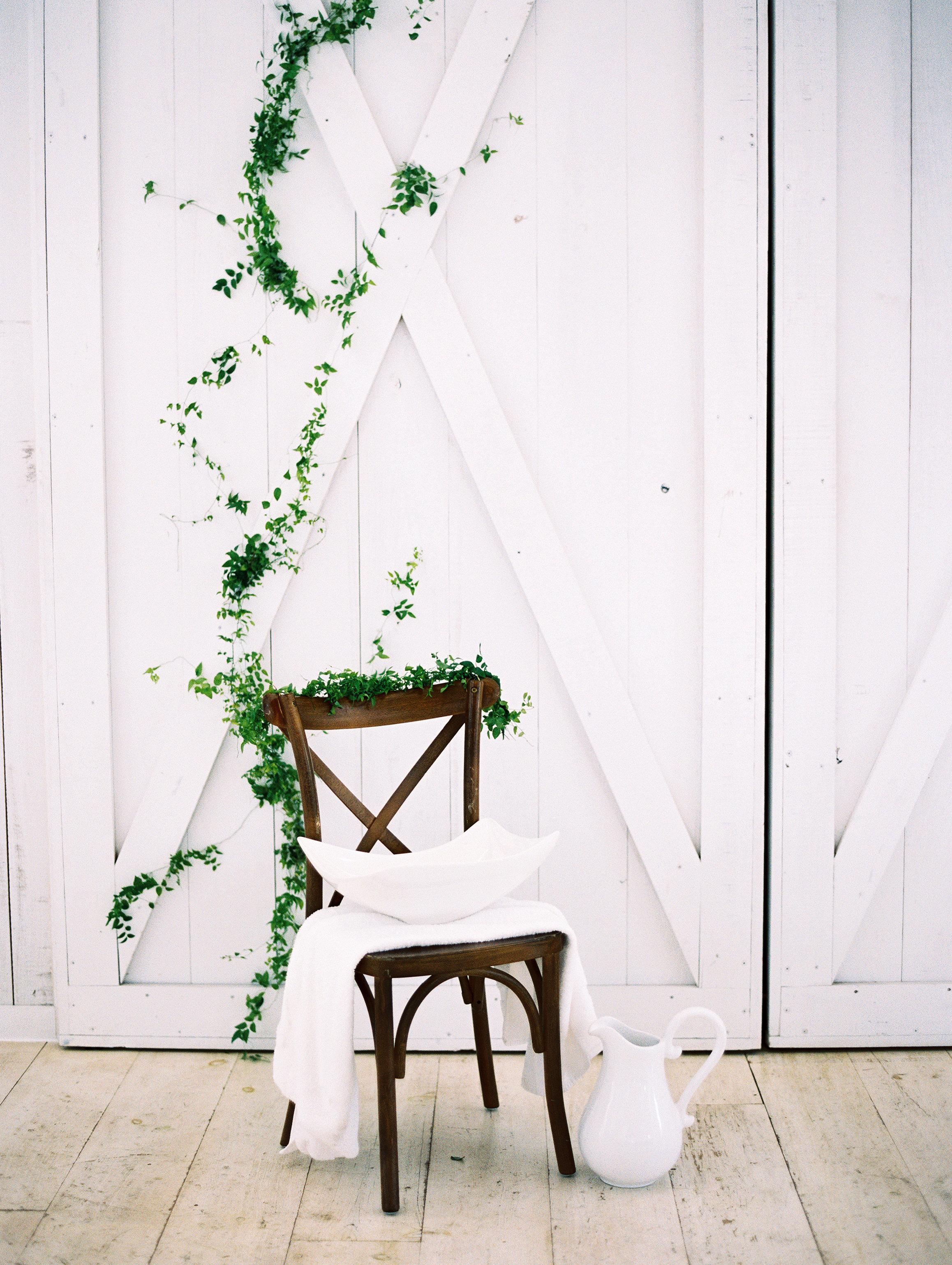 shakira travis wedding feet washing ceremony chair