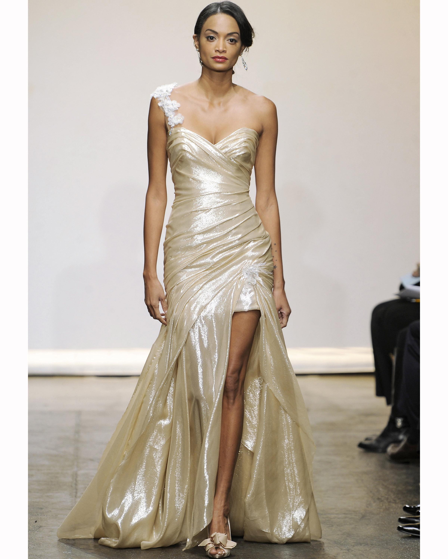 Metallic Wedding Dresses, Fall 2013