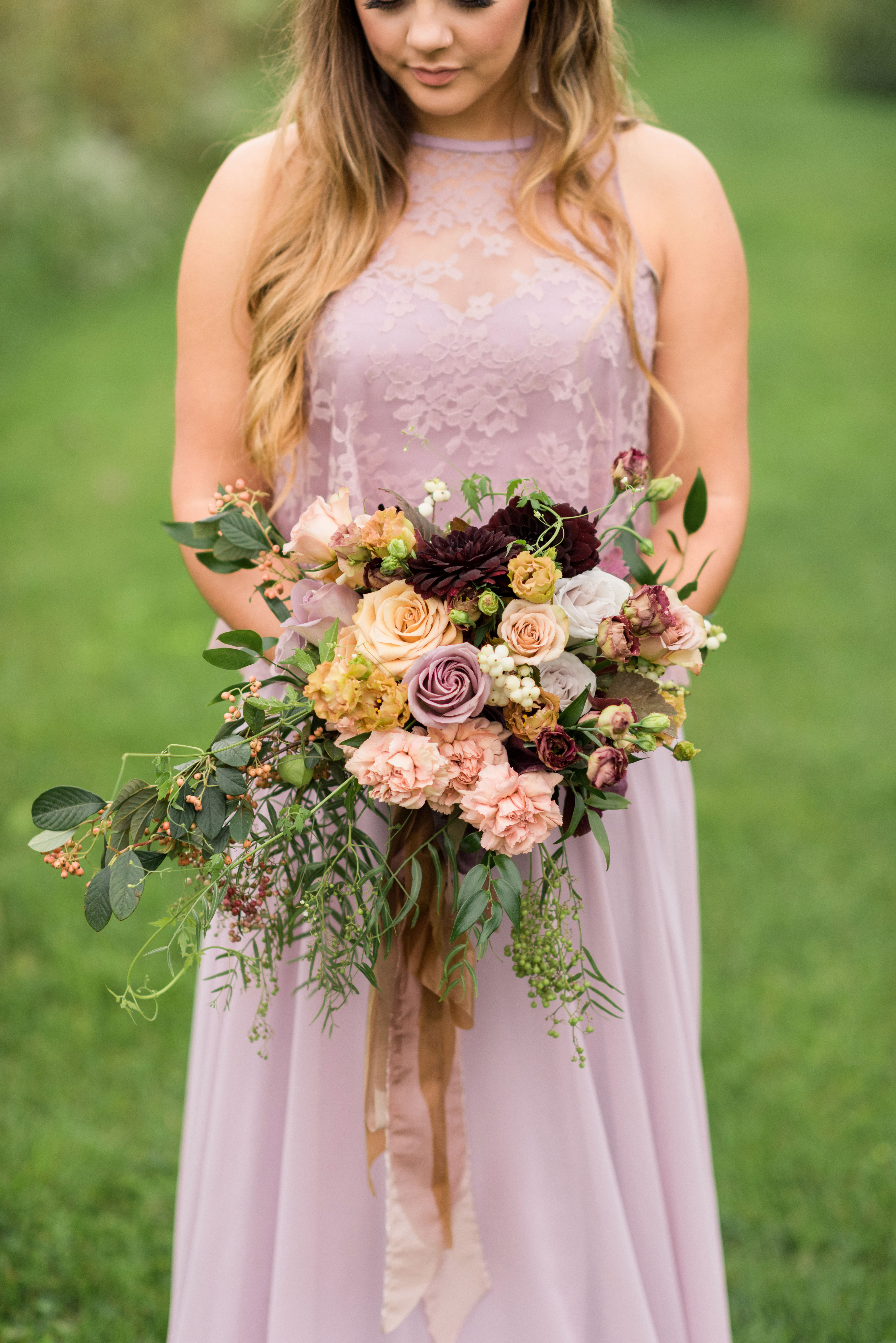 rose bridesmaid bouquet