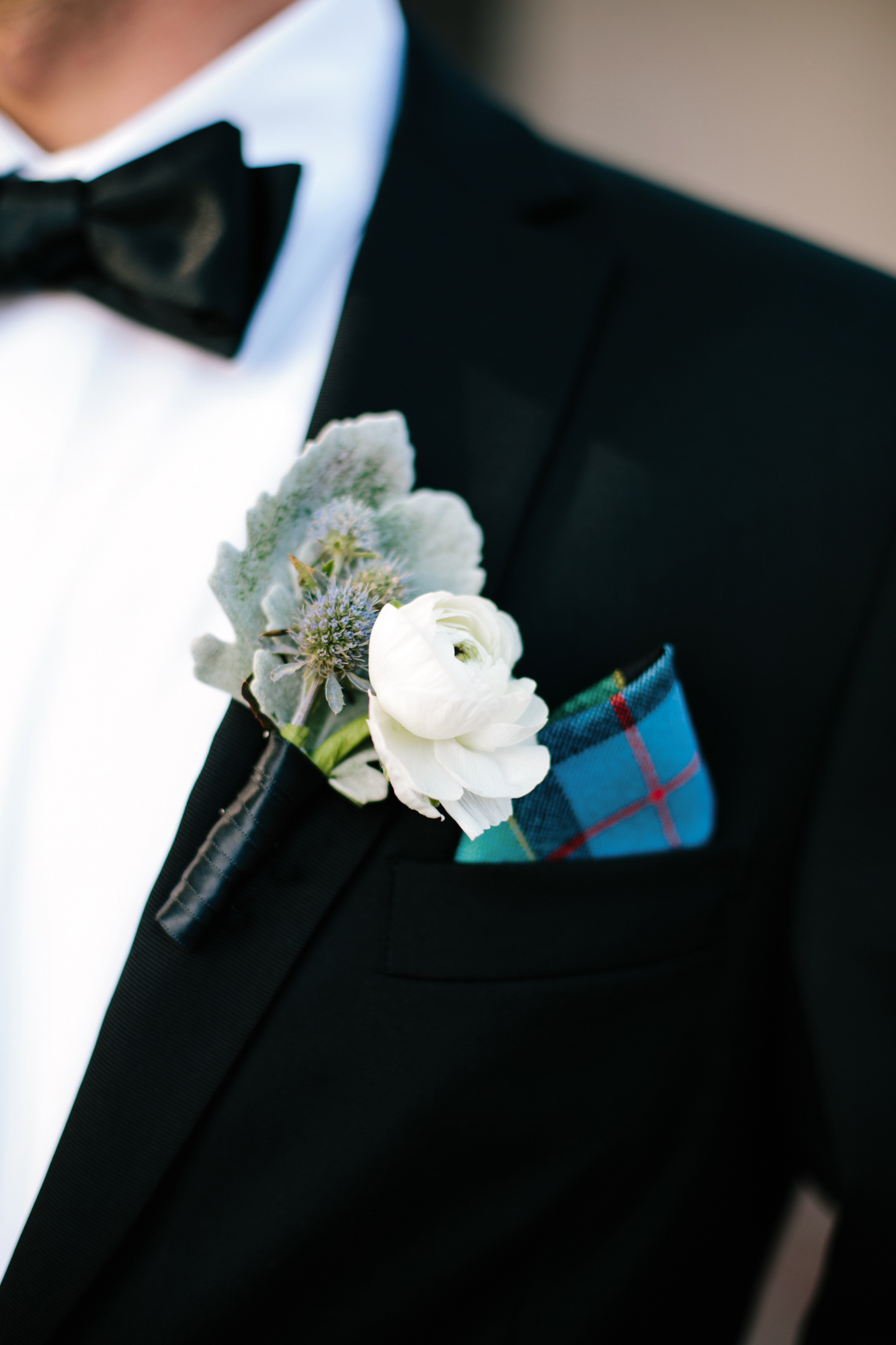 cool groom accessories blue pocket square white flower